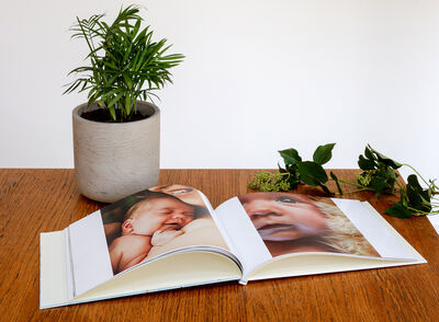 baby photo book with Bob Books