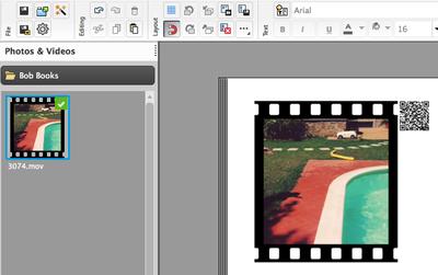 How do I add video to my photo book in Bob Designer?   Bob Books