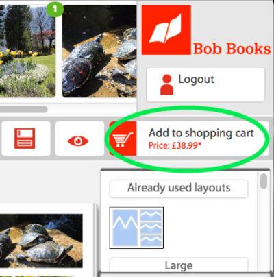 how do i order my photobook through the online book creator bob books